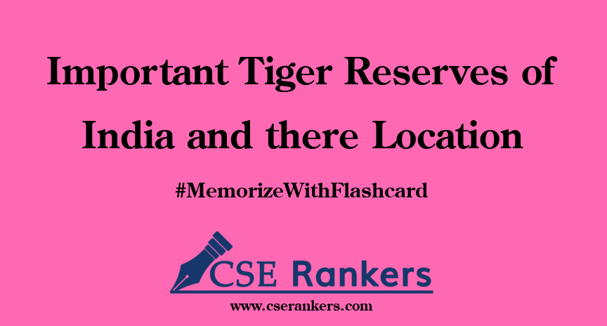 Important Tiger Reserves of India and there Location
