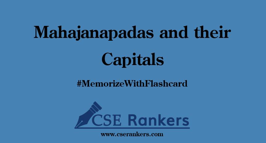 Mahajanapadas and their Capitals