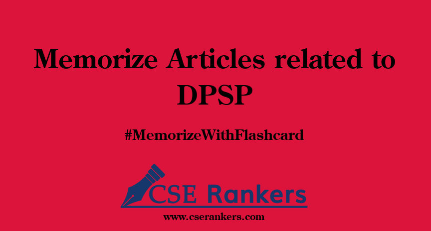 Memorize Articles related to DPSP