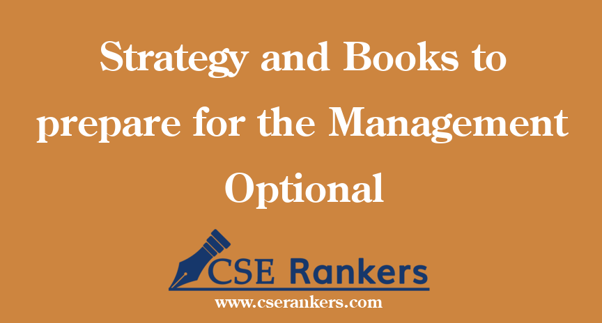Strategy and Books to prepare for the Management Optional
